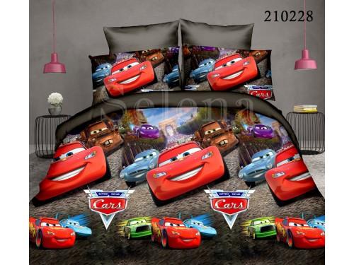 """Комплект подростковый ранфорс """"Машинки"""" 210228 от Selena в интернет-магазине PannaTeks"""