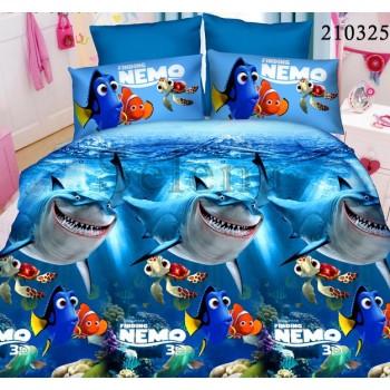 Детское постельное белье ранфорс Nemo