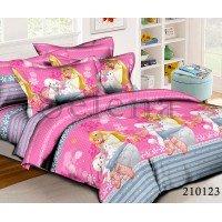 Детское постельное белье для девочки ранфорс Друзья Барби