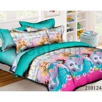 Детское постельное белье для девочки ранфорс Барби со Слоном