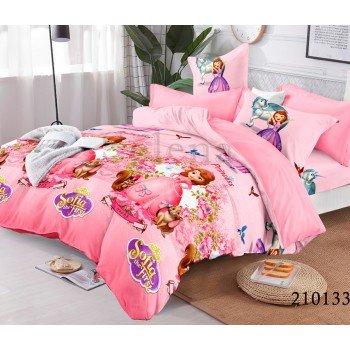 Детское постельное белье для девочки ранфорс София Pink