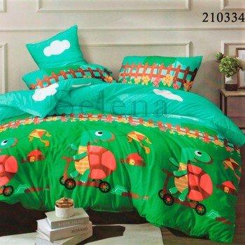 Детское постельное белье ранфорс Веселая Черепаха