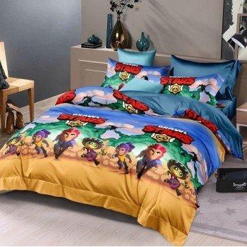 Детское постельное белье ранфорс Игра Бравл Старс 210337 от Selena в интернет-магазине PannaTeks