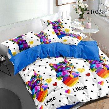 Детское постельное белье ранфорс Котик Разноцветный