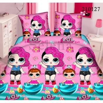 Детское постельное белье для девочки ранфорс Куклы