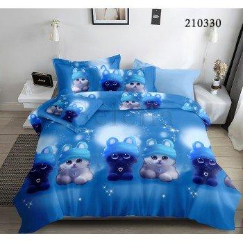 Детское постельное белье ранфорс Лунные Котята