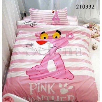 Детское постельное белье для девочки ранфорс Пантера Pink