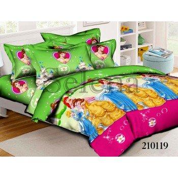 Детское постельное белье для девочки ранфорс Принцессы