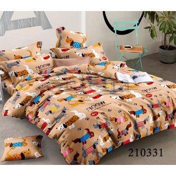 Детское постельное белье ранфорс Веселые Щенята