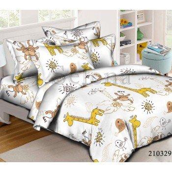 Детское постельное белье ранфорс Жирафы
