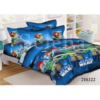 Детское постельное белье для мальчика ранфорс Звездные войны