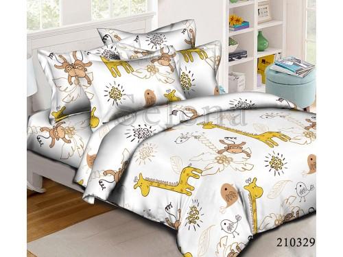 """Комплект подростковый ранфорс """"Жирафы"""" 210329 от Selena в интернет-магазине PannaTeks"""