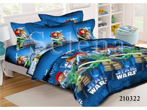 Детское постельное белье для мальчика ранфорс Звездные войны 210322 от Selena в интернет-магазине PannaTeks