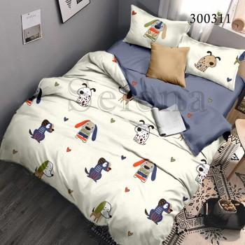 Детское постельное белье сатин Бобики