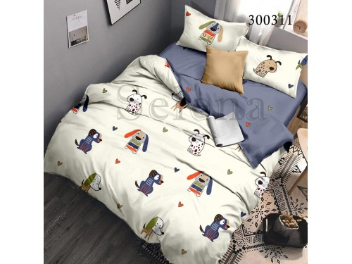 Детское постельное белье сатин Бобики 300311 от Selena в интернет-магазине PannaTeks