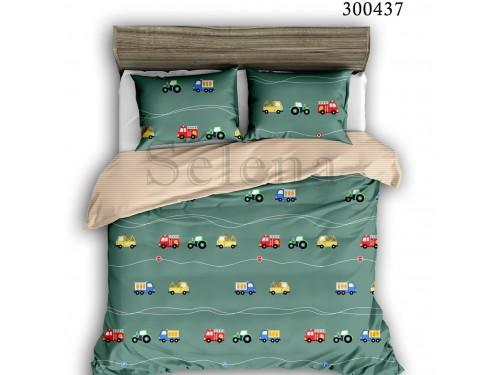 Детское постельное белье для мальчика сатин Машинки Цветные 300437 от Selena в интернет-магазине PannaTeks