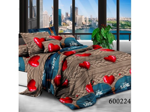 Постельное белье поликоттон Валентинка 600224 от Selena в интернет-магазине PannaTeks