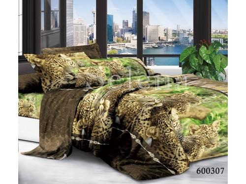 """Постельное белье поликоттон """"Леопарды"""" 600307 от Selena в интернет-магазине PannaTeks"""