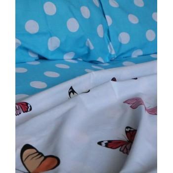 Комплект постельного белья N-7453-A-B-blue фото 5