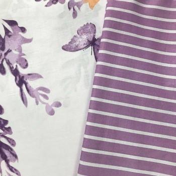 Постельное белье сатин с компаньоном Майская Лаванда фото 1
