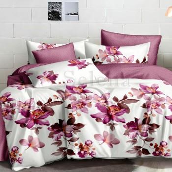 Сатиновое постельное белье Танец Орхидей