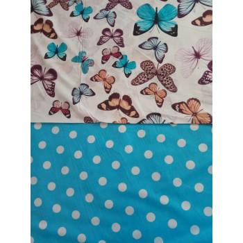 Комплект постельного белья N-7453-A-B-blue фото 1