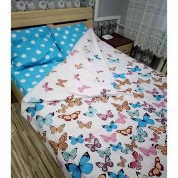 Комплект постельного белья N-7453-A-B-blue фото 7
