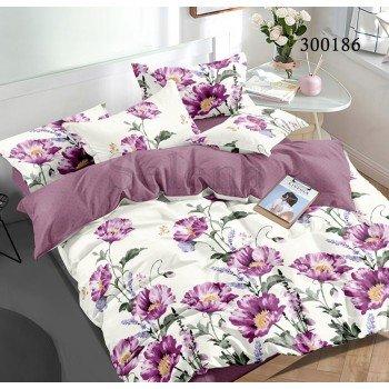 Постельное белье сатин с компаньоном Мак Фиолетовый