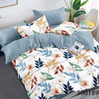 Сатиновое постельное белье Разноцветные Листики