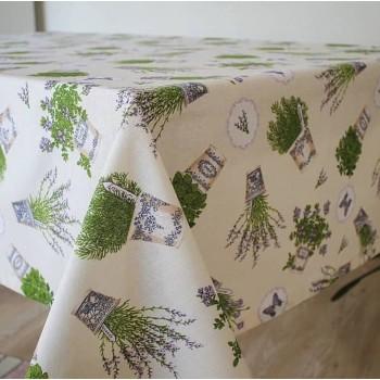Тефлоновая скатерть на кухонный стол Лаванда