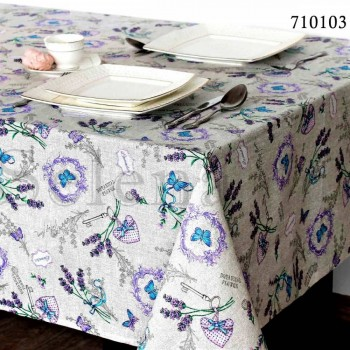 Тефлоновая скатерть на кухонный стол Лаванда Прованс
