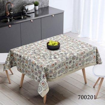 Скатерть на стол из хлопка Чаепитие, Украина
