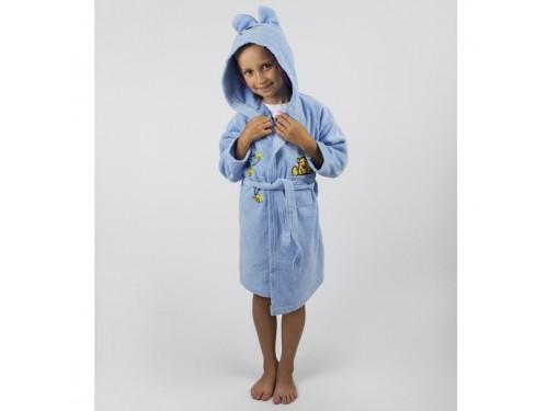 Детский махровый халат с капюшоном и ушками Teddy Bear голубой 2000022181303 от Lotus в интернет-магазине PannaTeks