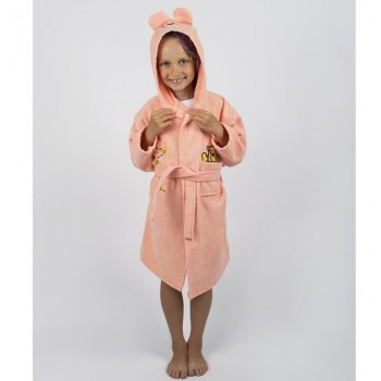 Халат детский Lotus - Teddy Bear персик