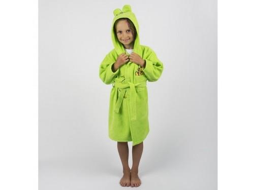 Детский махровый халат с капюшоном и ушками Teddy Bear салатовый 2000022181228 от Lotus в интернет-магазине PannaTeks