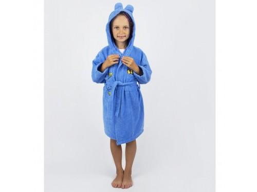 Детский махровый халат с капюшоном и ушками Teddy Bear синий 2000022181259 от Lotus в интернет-магазине PannaTeks