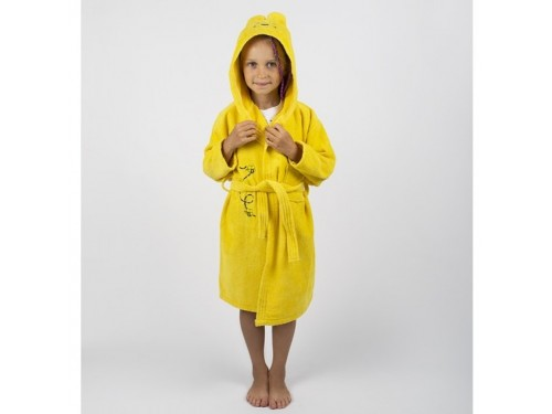 Детский махровый халат с капюшоном и ушками Teddy Bear желтый 2000022181211 от Lotus в интернет-магазине PannaTeks