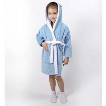 Халат детский Lotus - Зайка голубой