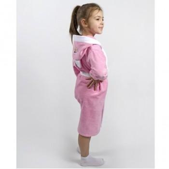 Халат детский Lotus - Зайка розовый