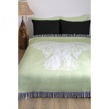 Плед из хлопка Elephant салатовый 241373 от Lotus в интернет-магазине PannaTeks