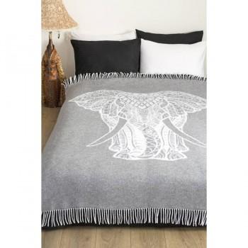 Плед из хлопка Elephant серый 241397 от Lotus в интернет-магазине PannaTeks