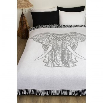 Плед из хлопка Elephant серый фото 2