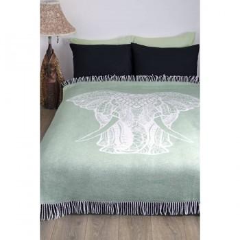 Плед из хлопка Elephant ментоловый 264983 от Lotus в интернет-магазине PannaTeks
