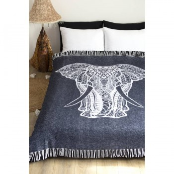 Плед из хлопка Elephant антрацитовый 272230 от Lotus в интернет-магазине PannaTeks