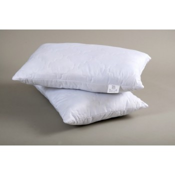 Белая подушка холлофайбер Lotus Fiber 3D фото 1