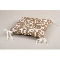 Подушка на стул Lotus Jaco с завязками кофе