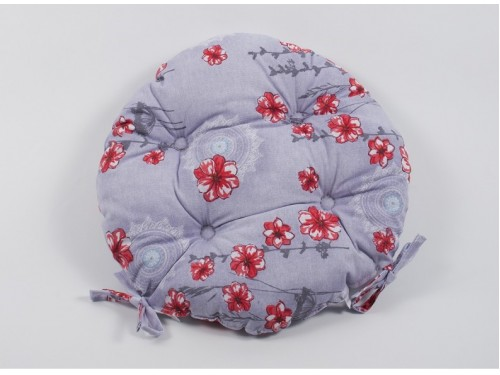Подушка на стул, табурет круглая Lotus Osaka серая 2000022191111 от Lotus в интернет-магазине PannaTeks