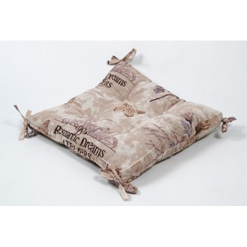 Подушка на стул Lotus Ella с завязками кофе