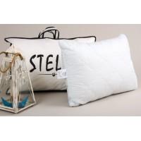 Антиаллергенная подушка Lotus Stella стеганая, хлопок, голубая, 50х70