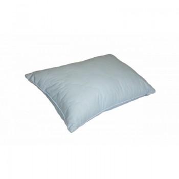 Антиаллергенная подушка Lotus Stella стеганая, хлопок, голубая, 50х70 фото 1
